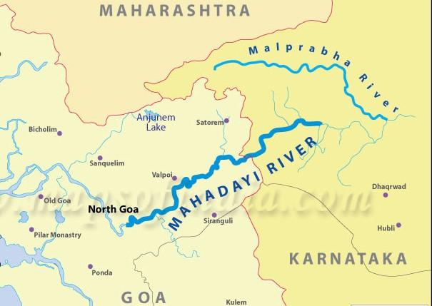 mahadayi-river-map