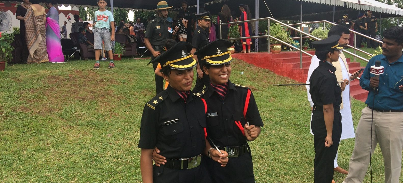 Lieutenant Nidhi Mishra with Lieutenant Swati Mahadik who also passed out from OTA along with her